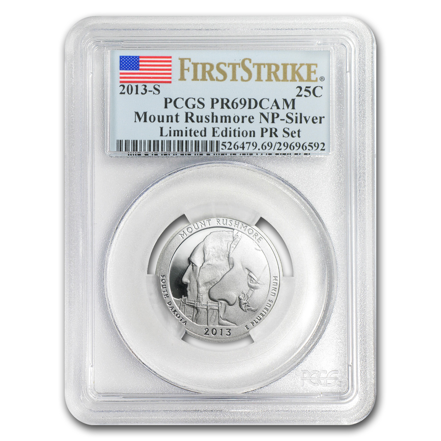 2013-S Limited Edition Proof Silver Quarter Set PR-69 PCGS (FS)