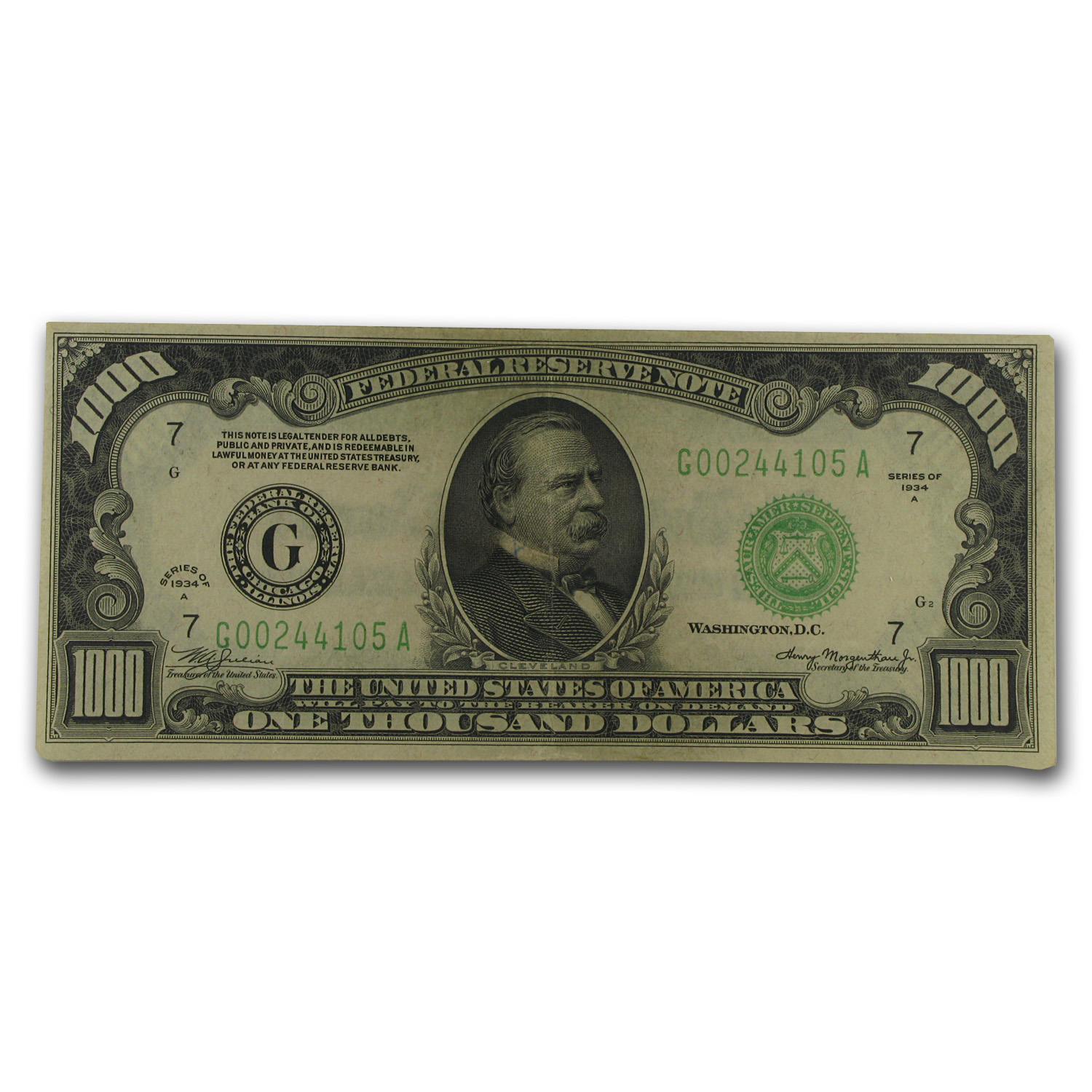 1934-A (G-Chicago) $1,000 FRN XF-45 PPQ PCGS