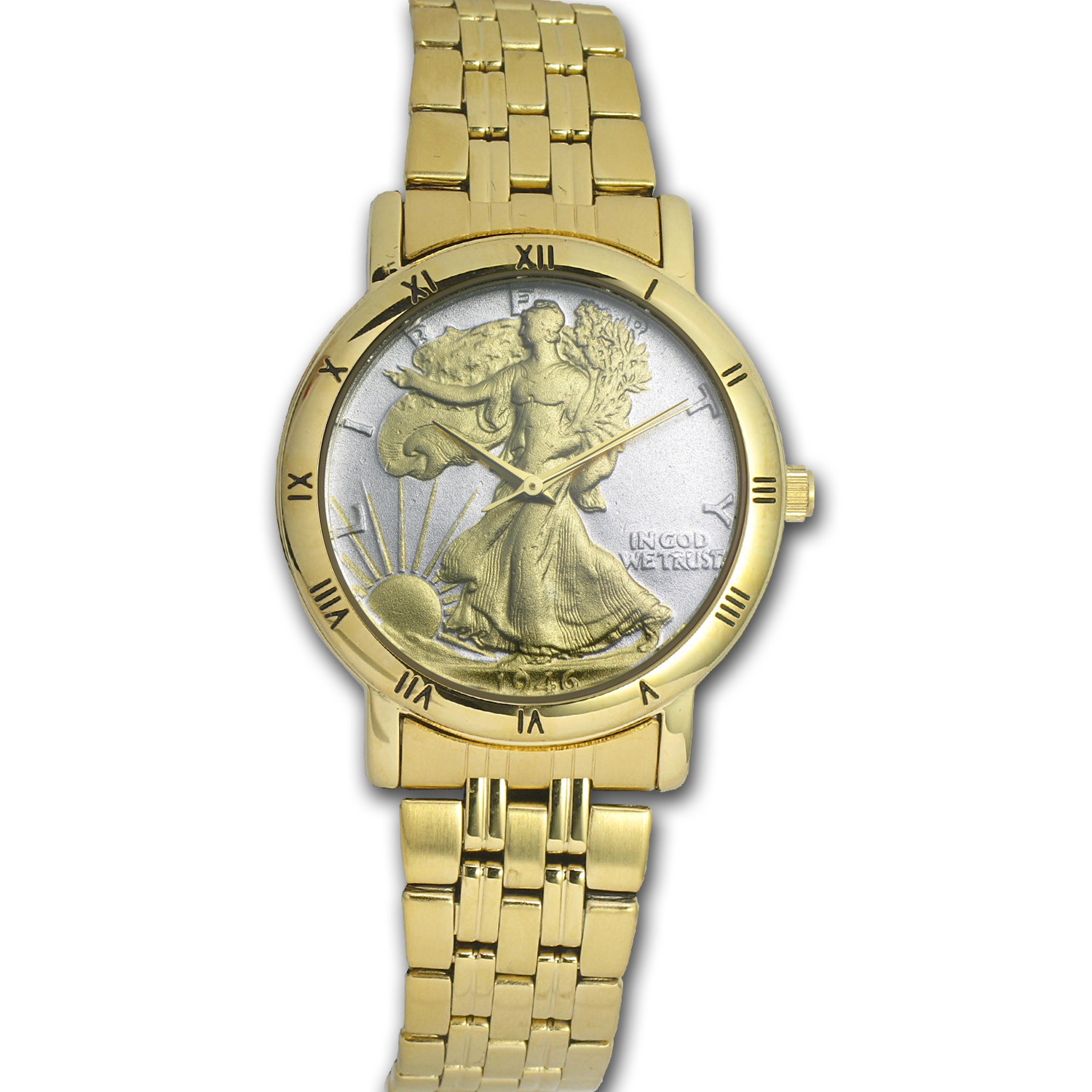 Men's Walking Liberty Half Dollar Watch