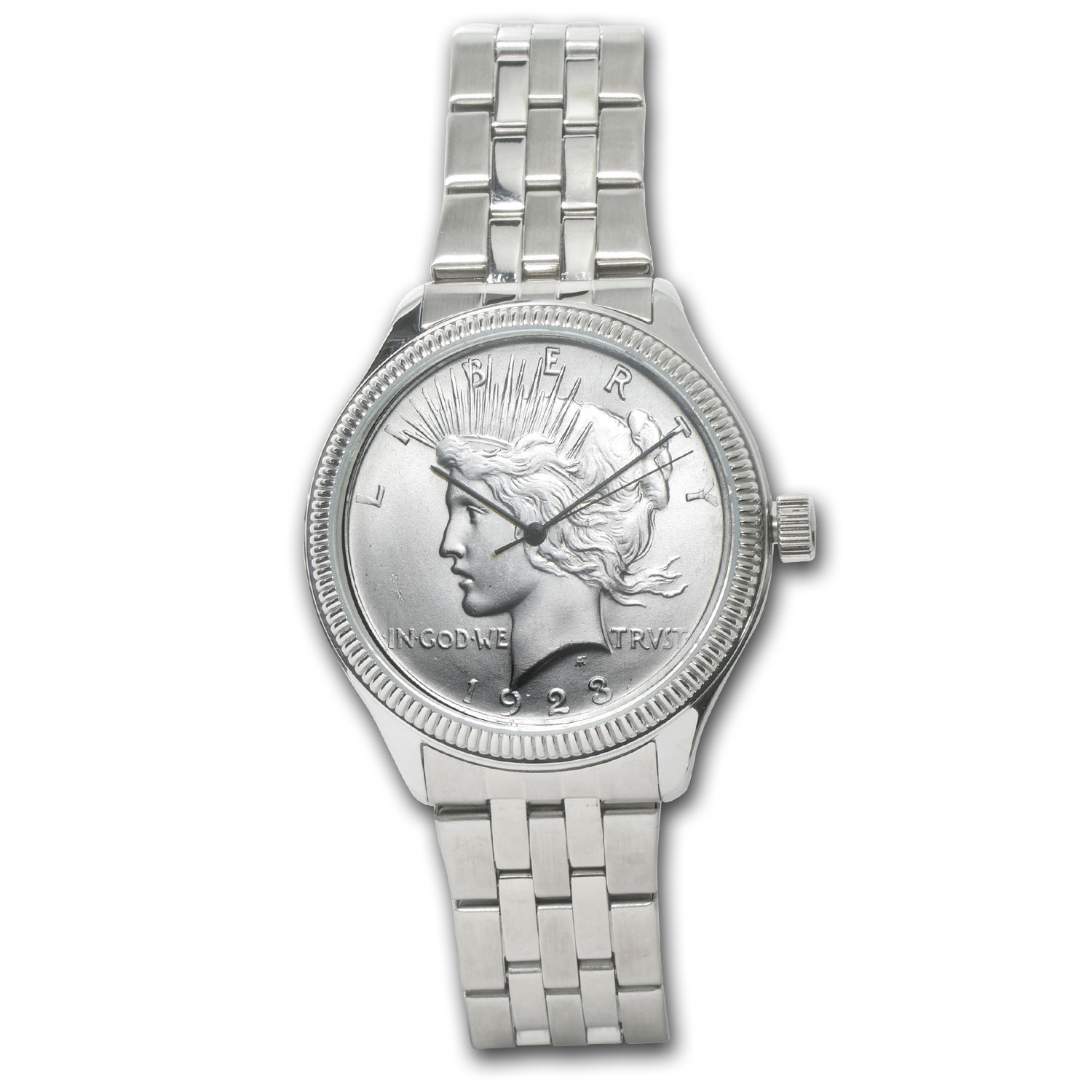 Men's Peace Dollar Watch - Stainless Steel Bracelet
