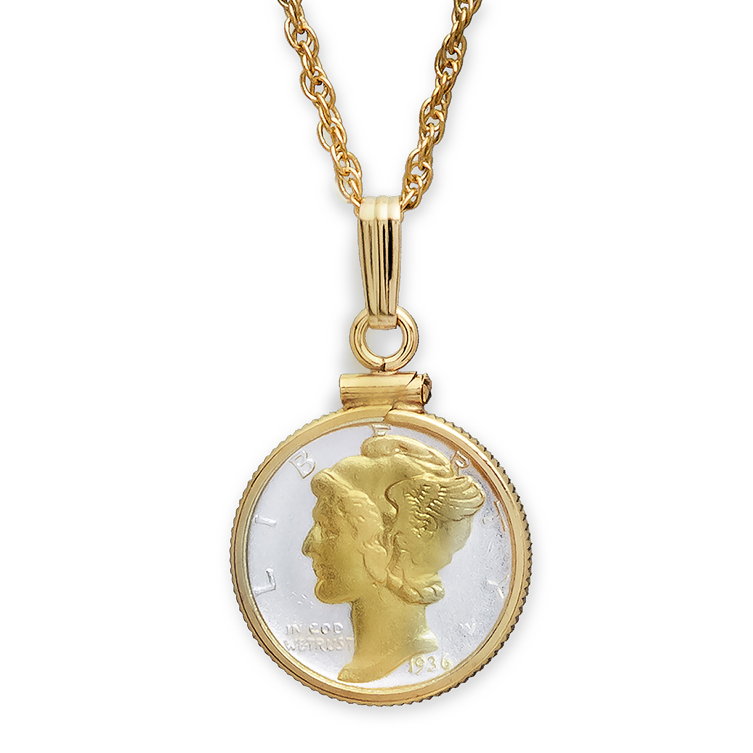 US Mercury Dime Necklace