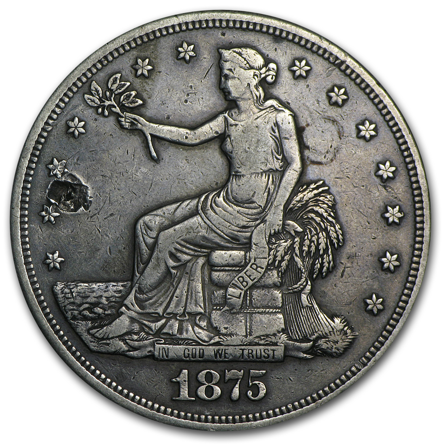 1875-CC Trade Dollar - Cull