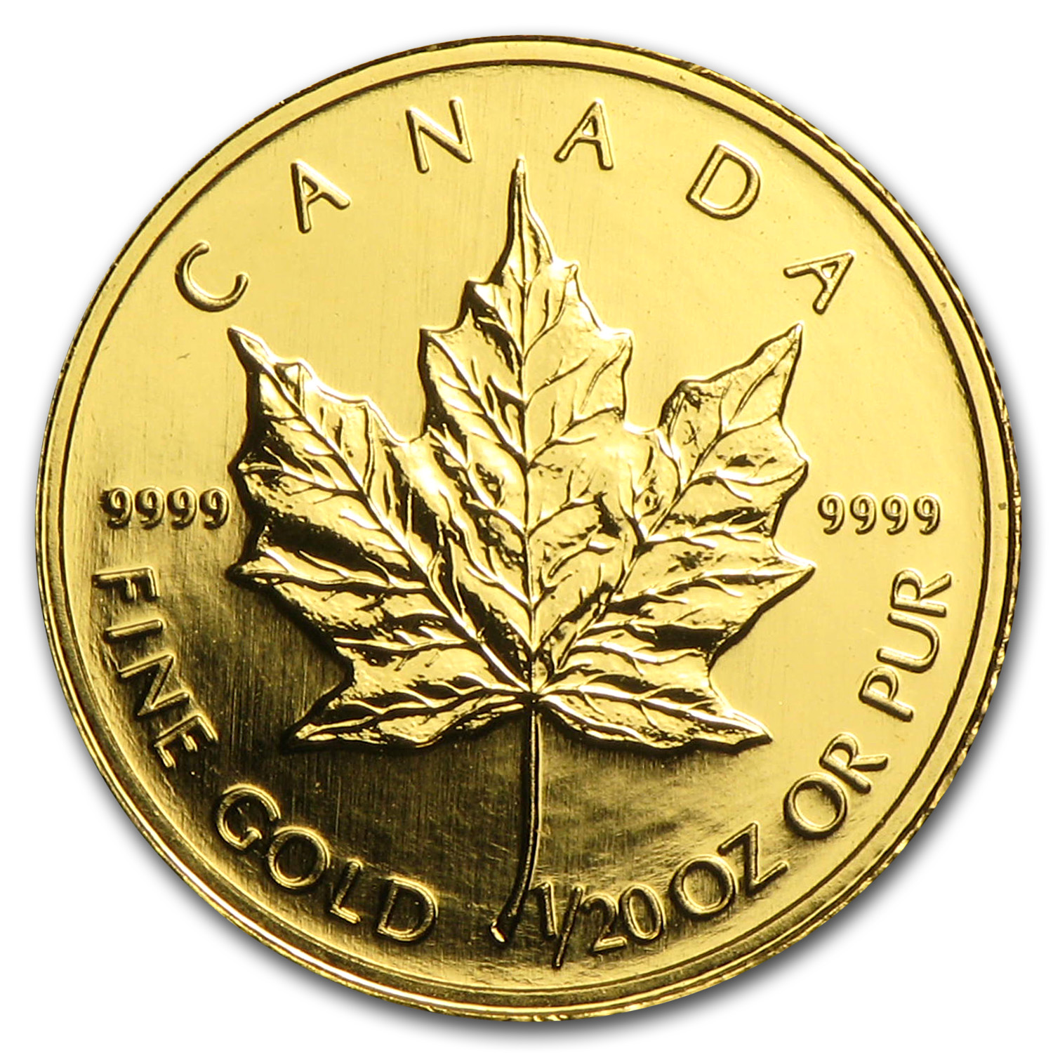 1998 1/20 oz Gold Canadian Maple Leaf