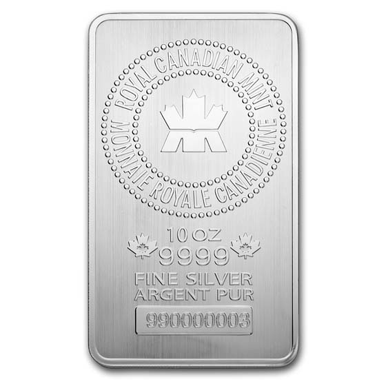 10 oz RCM (.9999 Fine) Silver Bar (New Style)(Aug 5th)