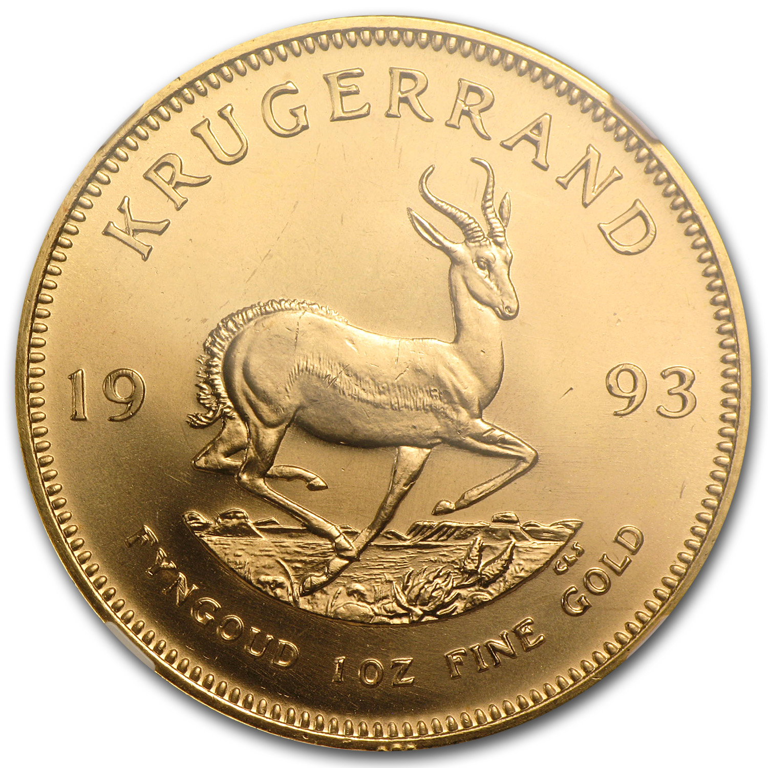 1993 South Africa 1 oz Gold Krugerrand MS-67 NGC