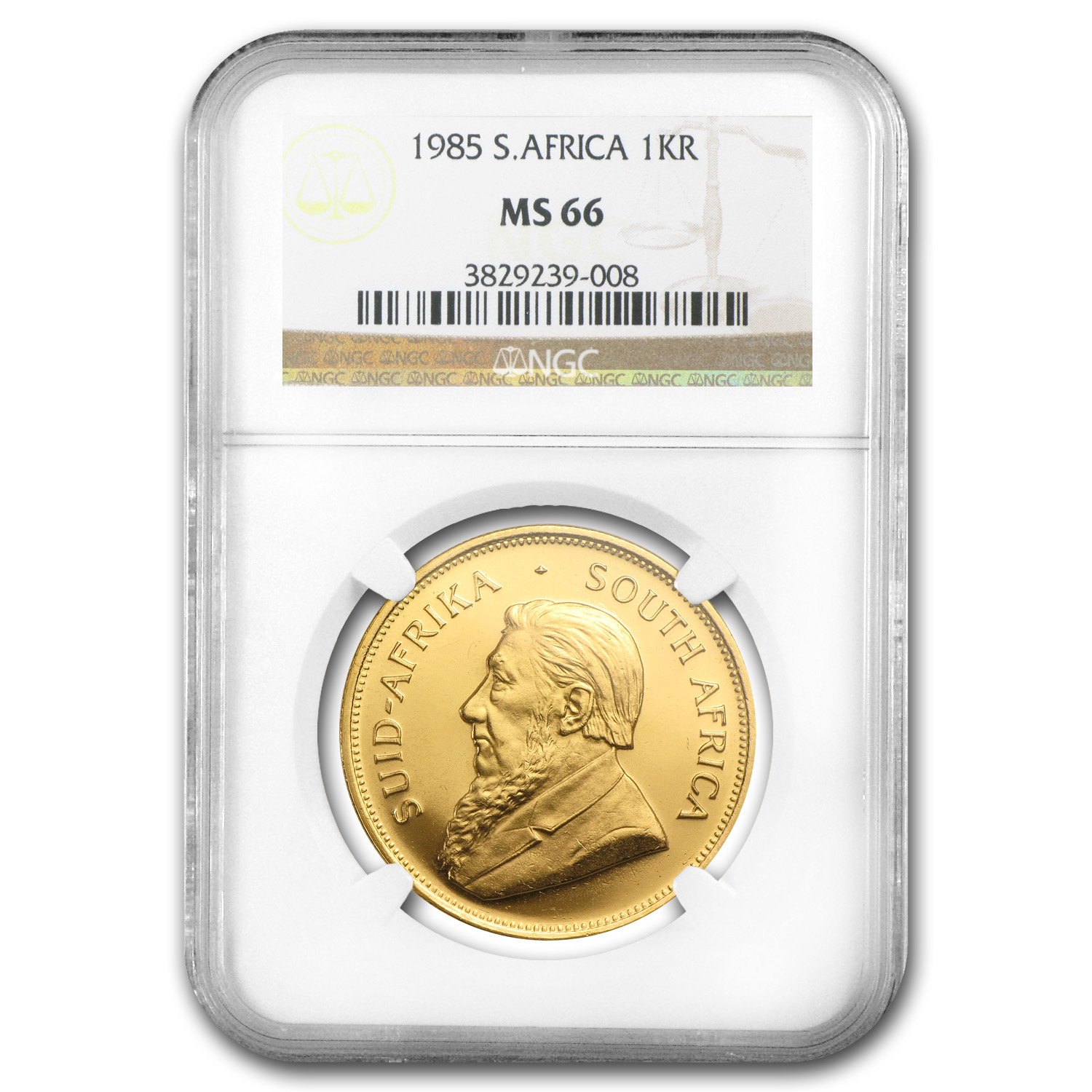 1985 1 oz Gold South African Krugerrand MS-66 NGC