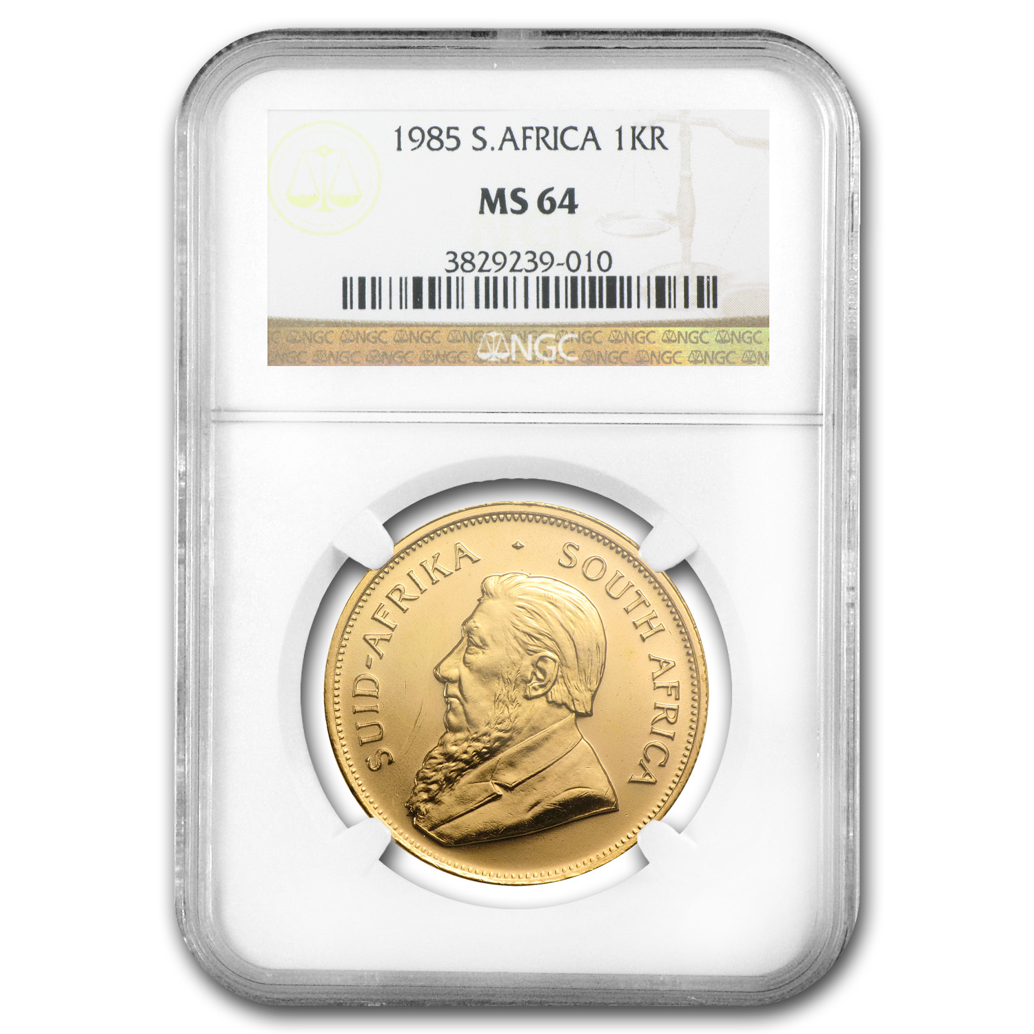 1985 1 oz Gold South African Krugerrand MS-64 NGC