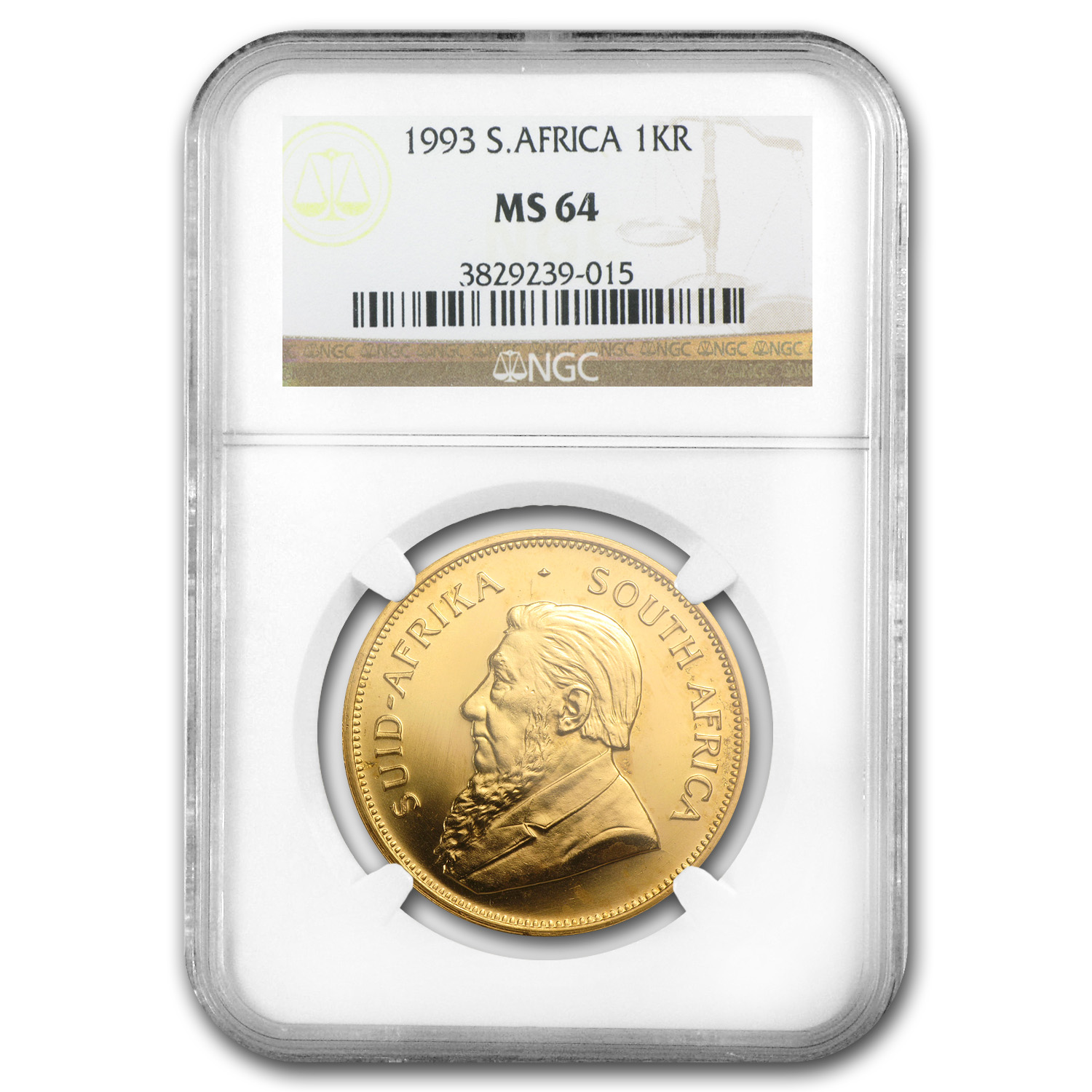 1993 South Africa 1 oz Gold Krugerrand MS-64 NGC