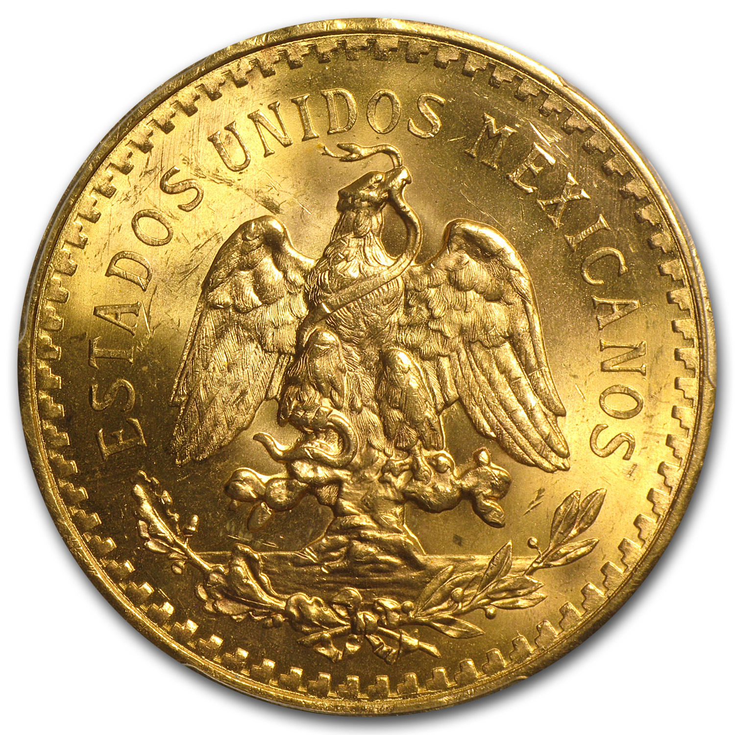 Mexico 1943 50 Pesos Gold Coin - MS-65 PCGS