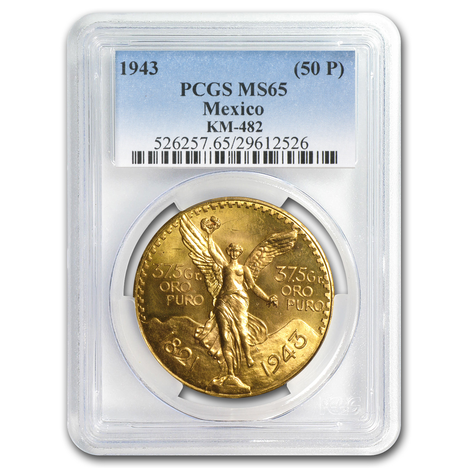 Mexico 1943 50 Pesos Gold MS-65 PCGS