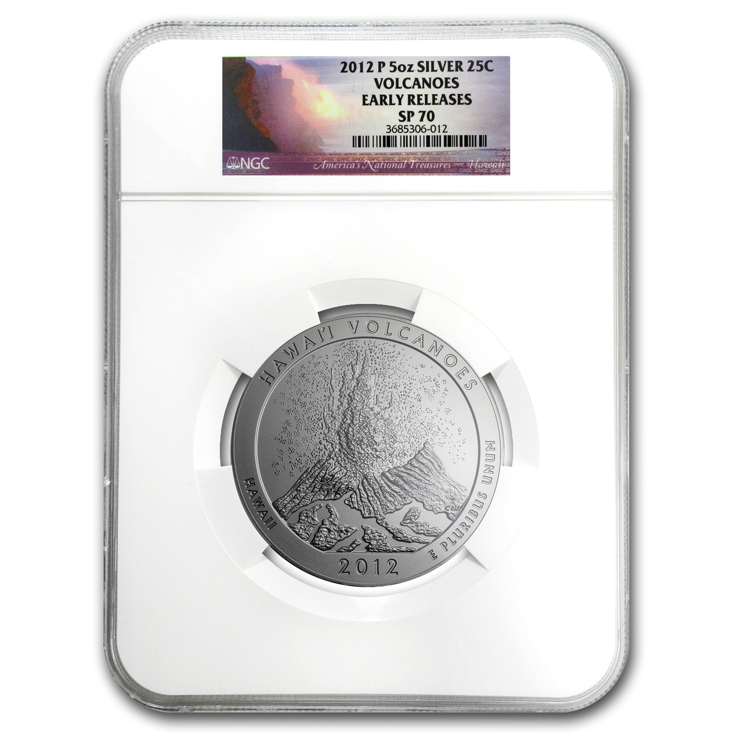 2012-P 5 oz Silver ATB Hawaii SP-70 NGC (Early Releases)