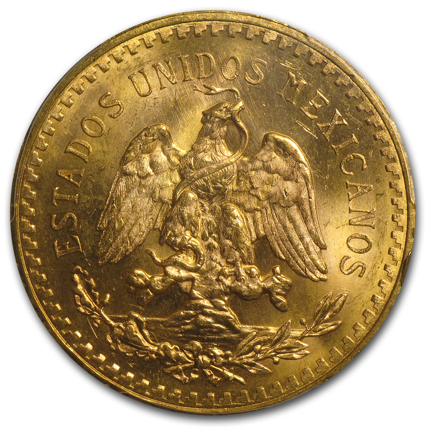 Mexico 1931 50 Pesos Gold Coin - MS-64+ PCGS