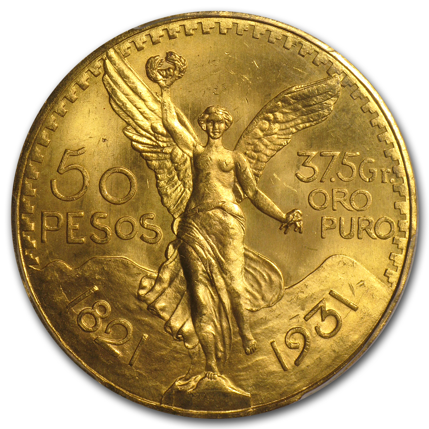 1931 Mexico 50 Pesos Gold MS-65 PCGS