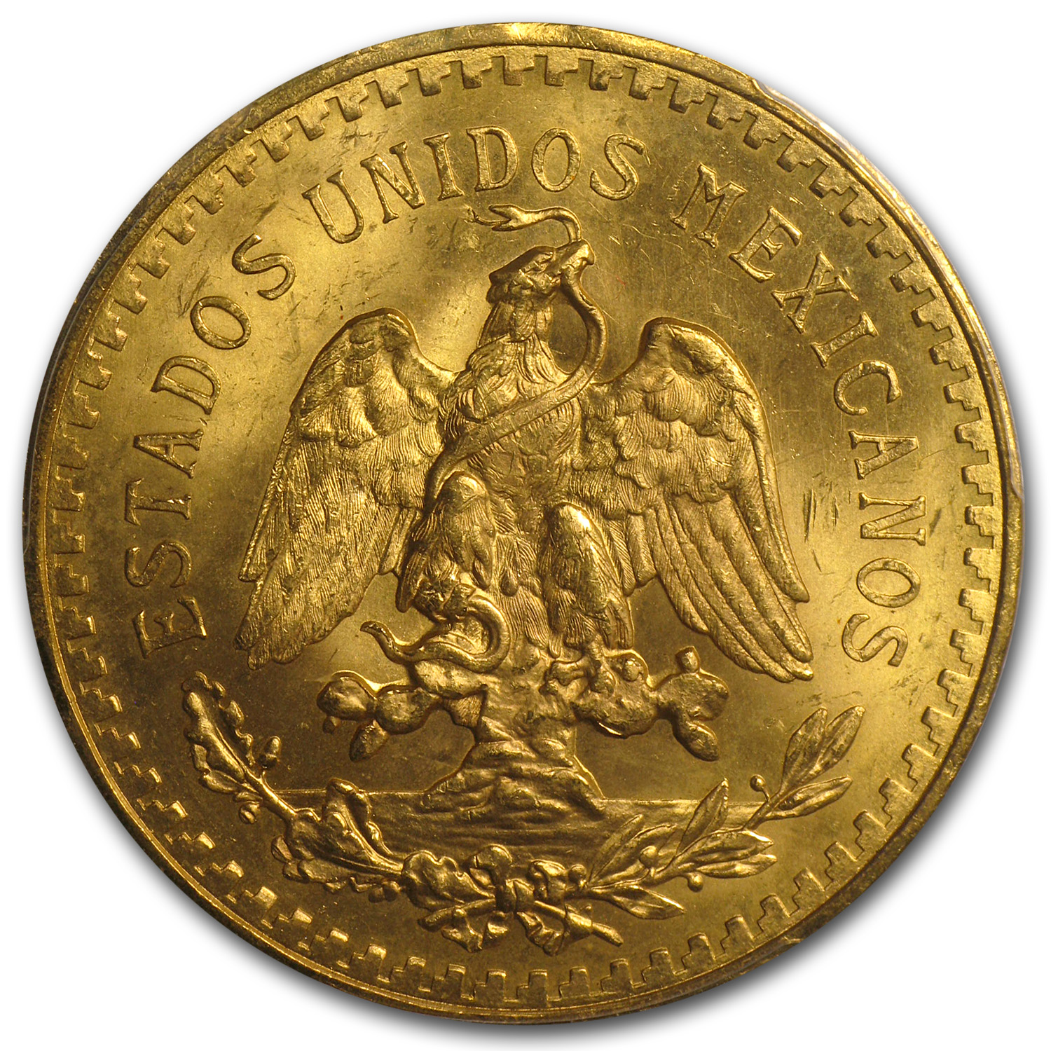 Mexico 1931 50 Pesos Gold Coin - MS-65 PCGS