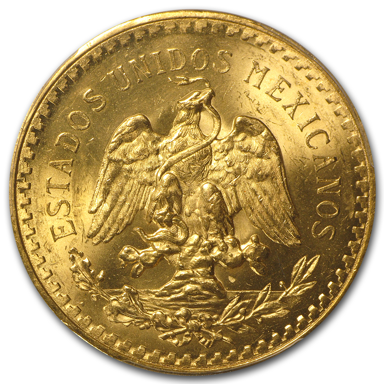 Mexico 1930 50 Pesos Gold Coin - MS-65 PCGS