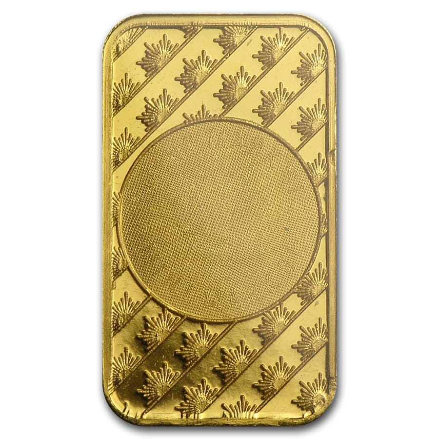 1 gram Gold Bar - Sunshine Minting New Design (In TEP Packaging)