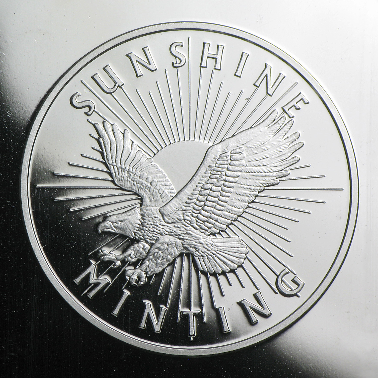 5 oz Silver Bar - Sunshine (MintMark SI)