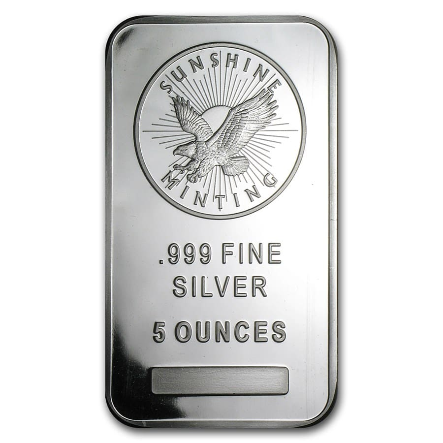 5 oz Silver Bar - Sunshine (V2)