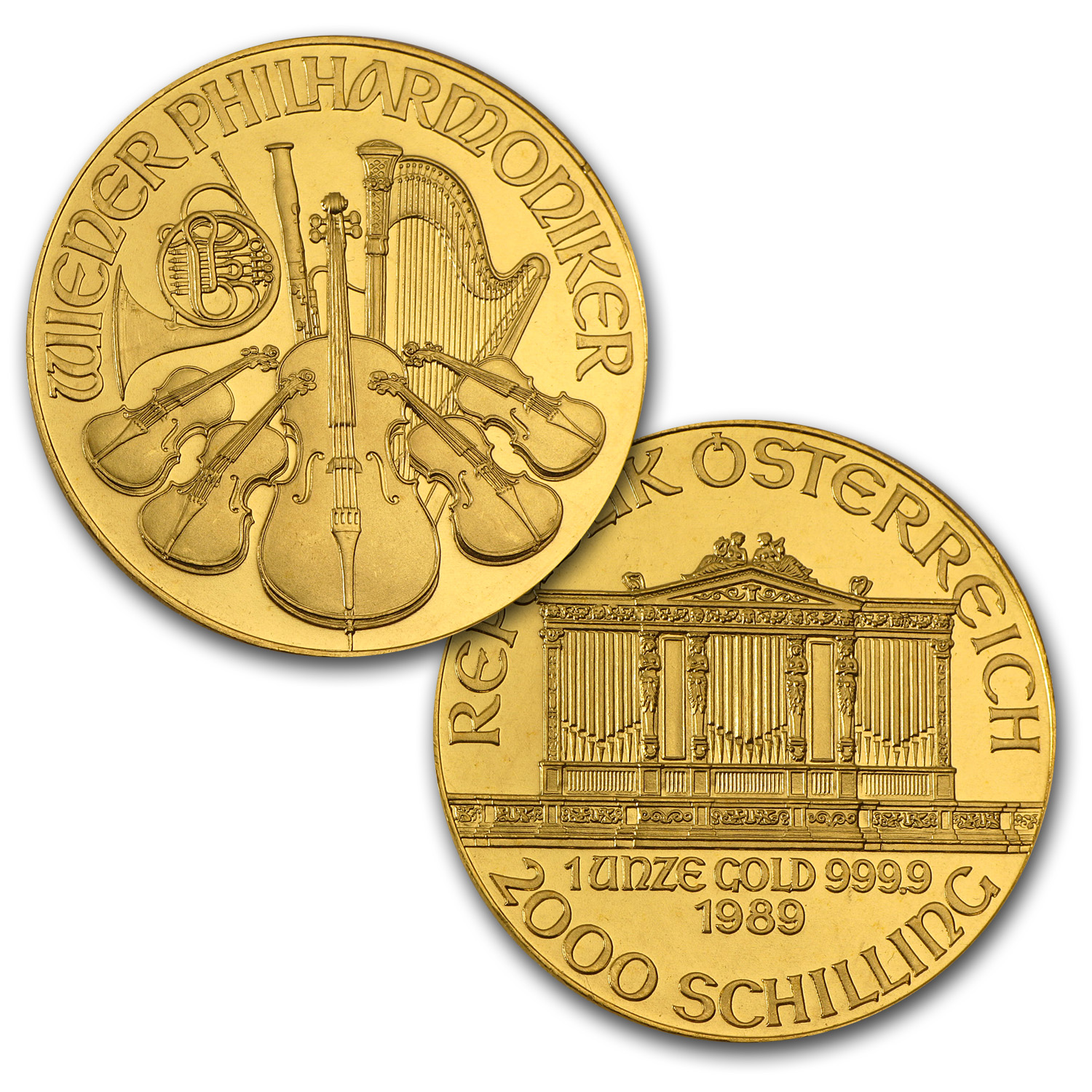 1989-2014 Austria 26-Coin 1 oz Gold Philharmonic Set BU