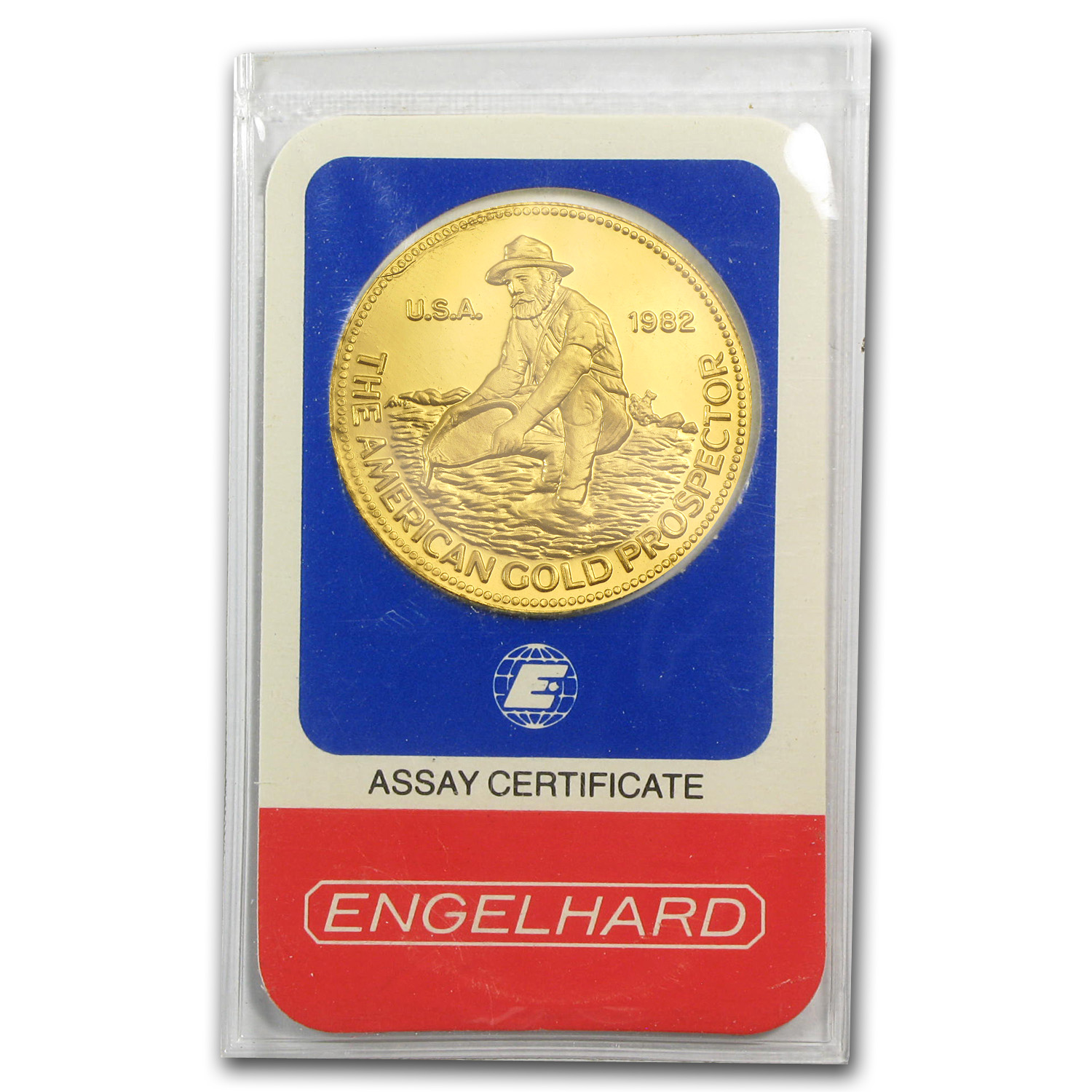 1 oz Gold Round - Engelhard (Prospector, In Assay)