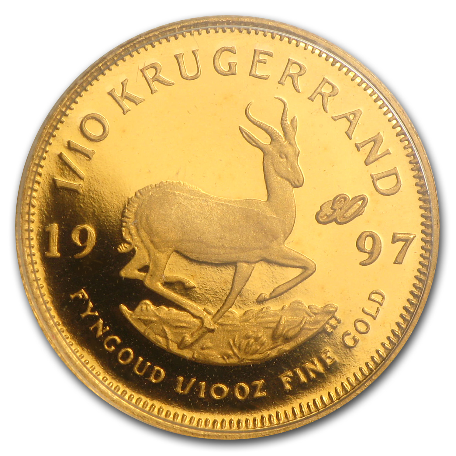 1997 1/10 oz Gold South African Krugerrand (Proof) (30th Ann)