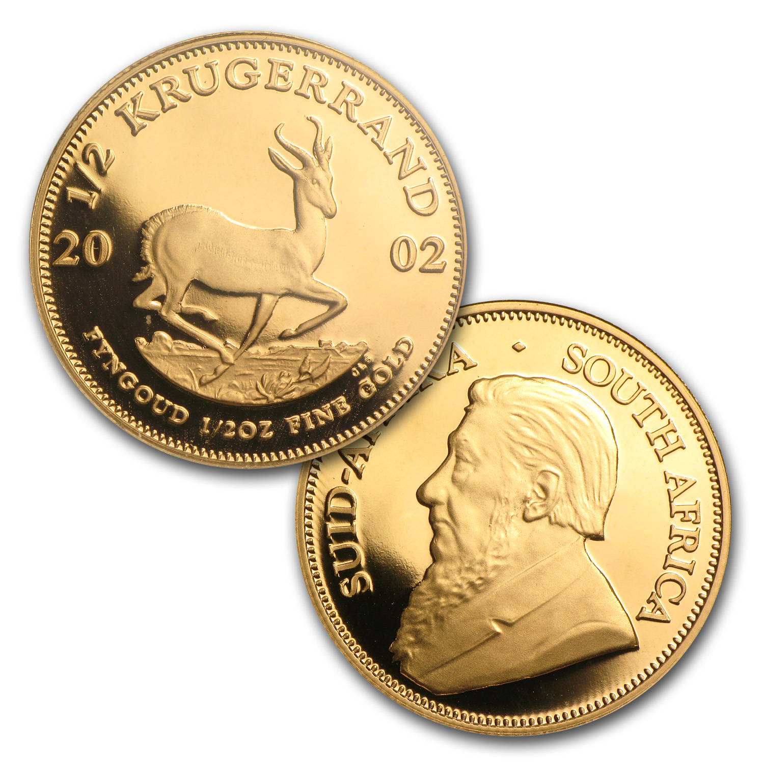 2002 4-Coin Proof Gold South African Krugerrand Set