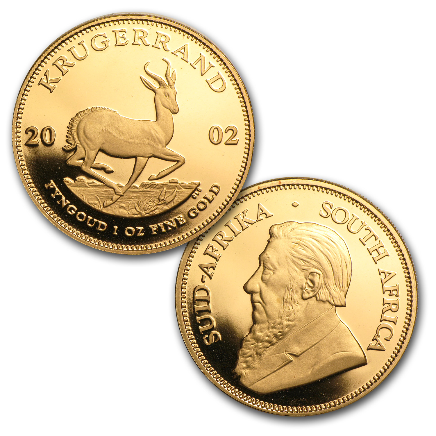 2002 South Africa 4-Coin Gold Krugerrand Proof Set