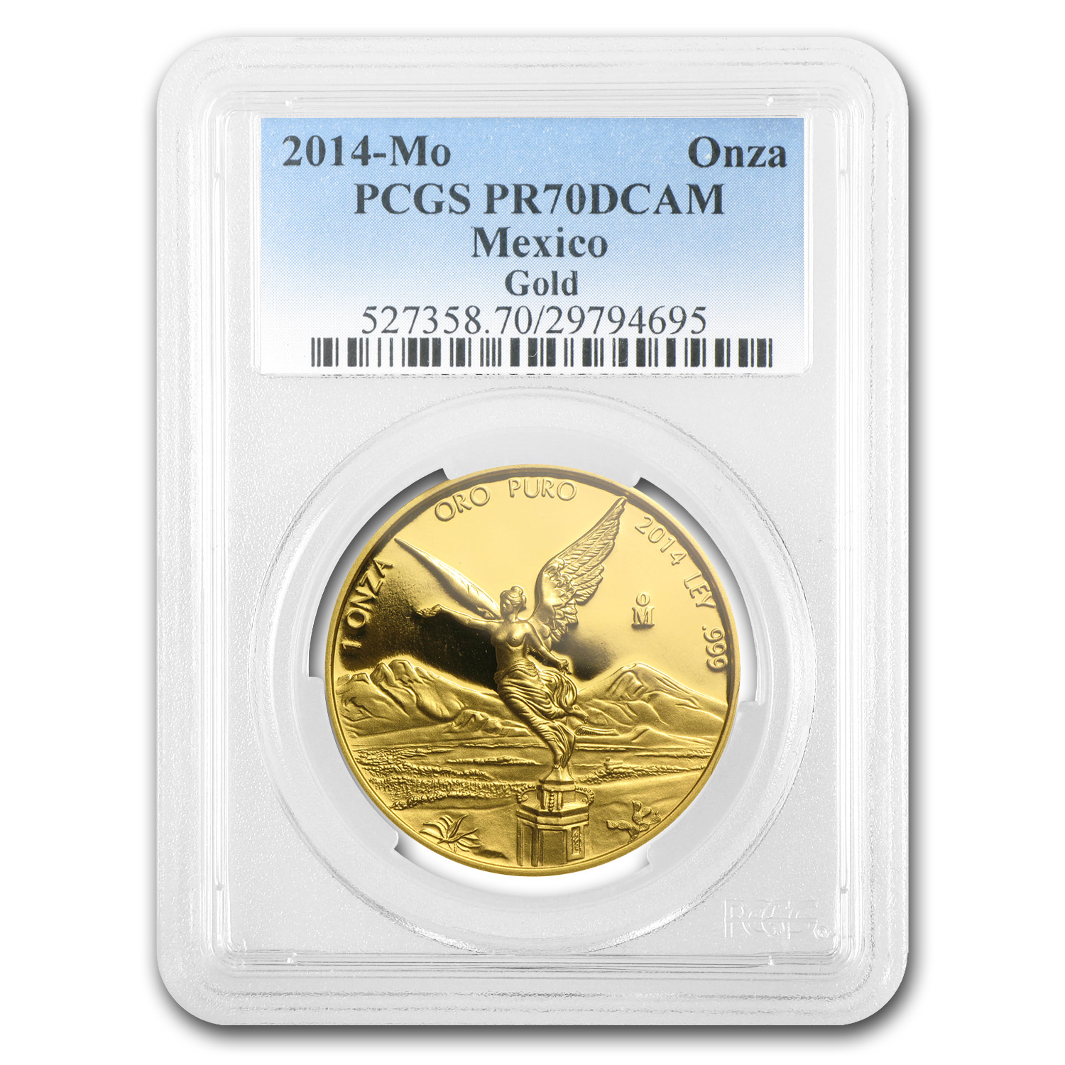 2014 1 oz Gold Mexican Libertad PR-70 DCAM PCGS Registry Set