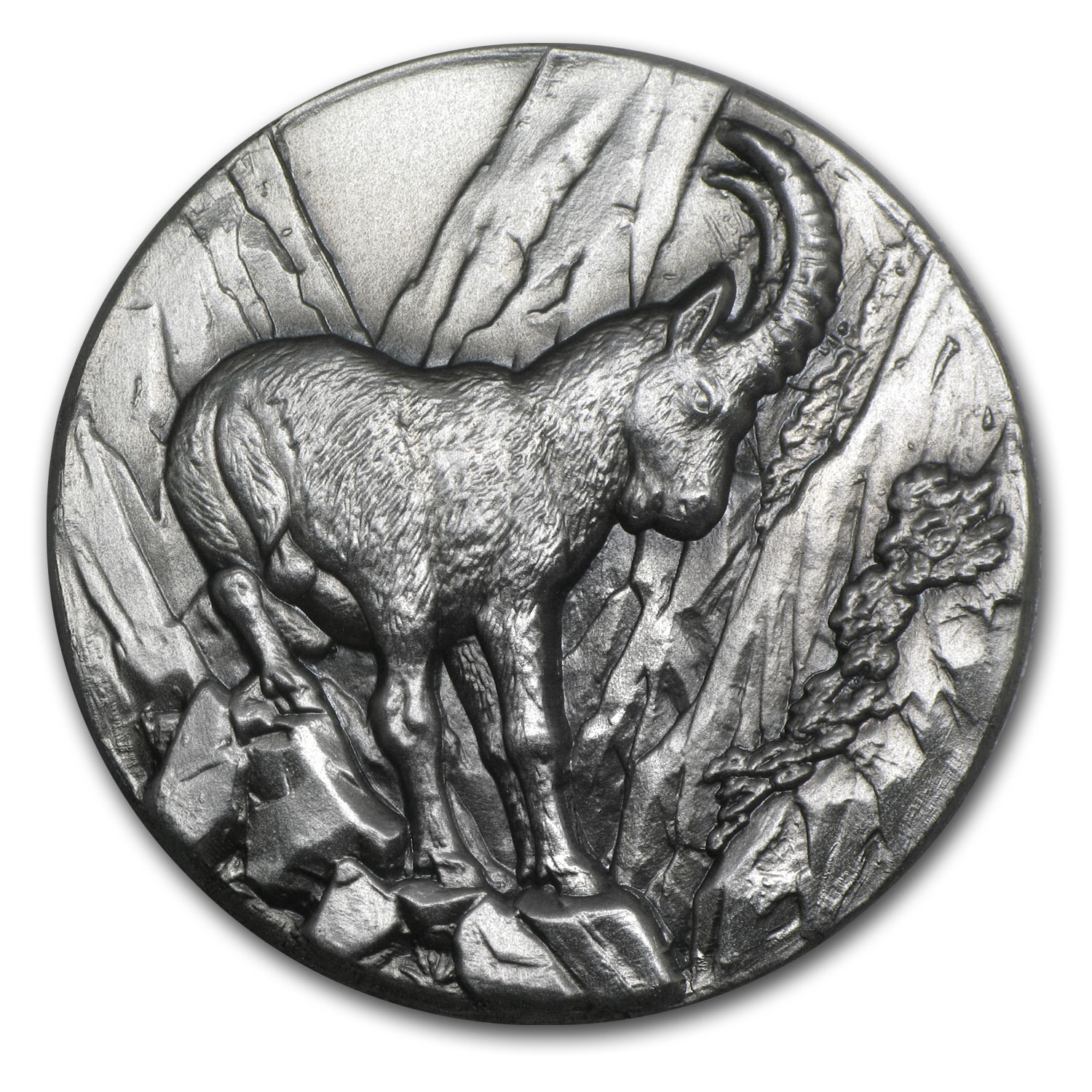 Niue 2014 1 oz Swiss Wildlife High Relief Silver - Capricorn