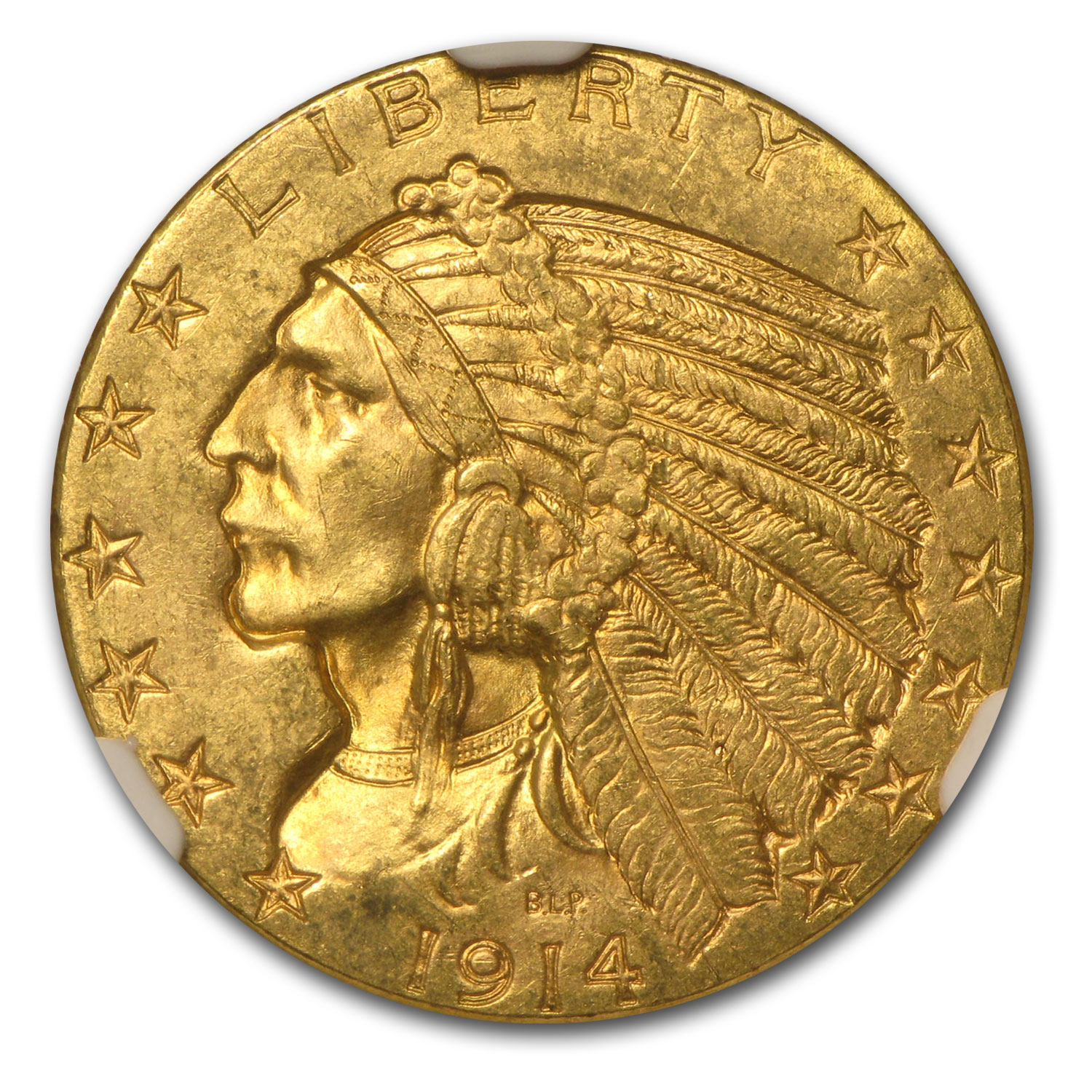 1914-D $5 Indian Gold Half Eagle - MS-63+ NGC CAC