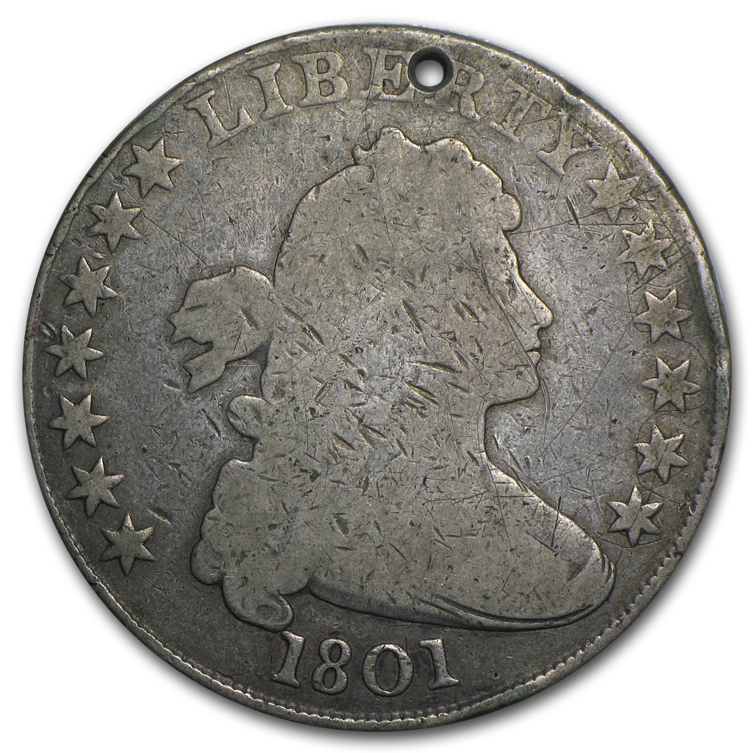 1801 Bust Dollar Very Good (Holed)