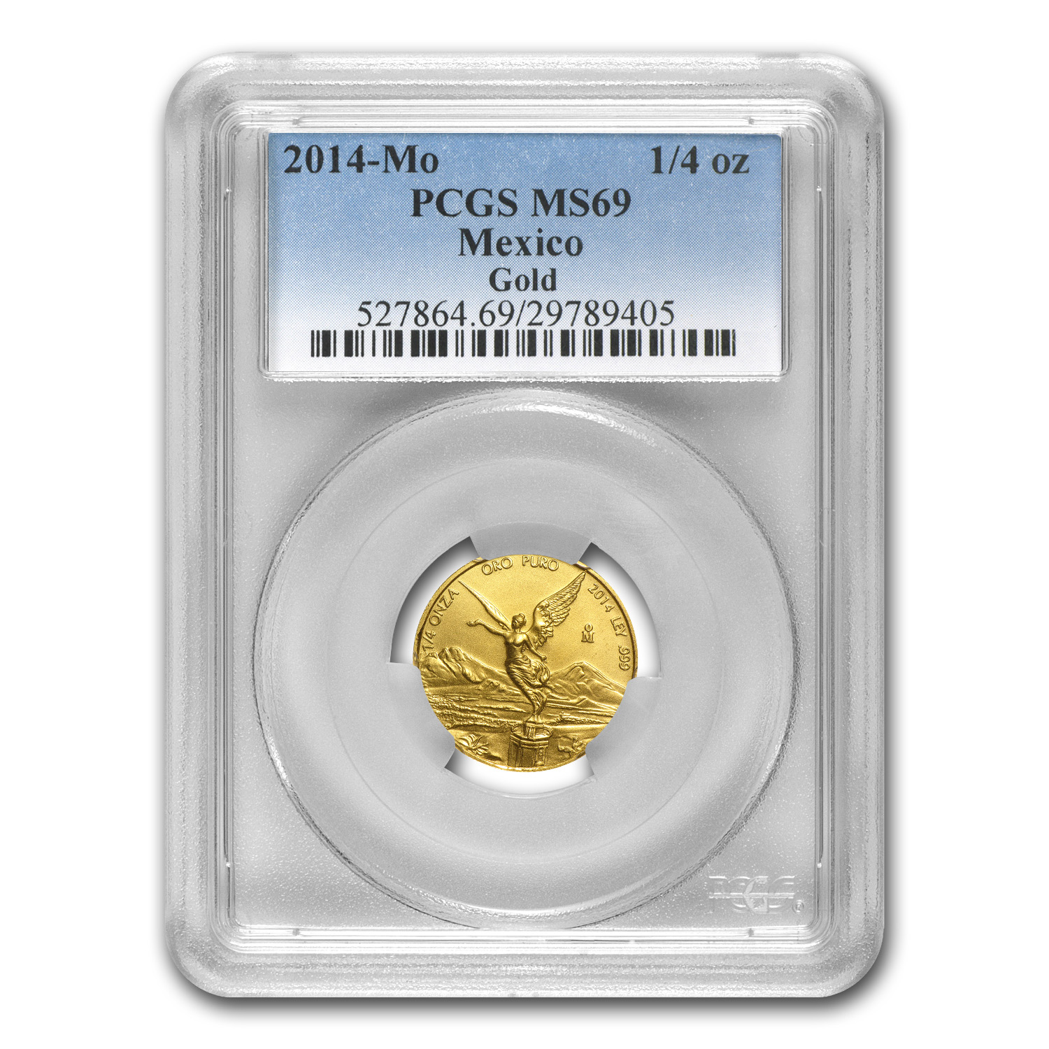 2014 1/4 oz Gold Mexican Libertad MS-69 PCGS