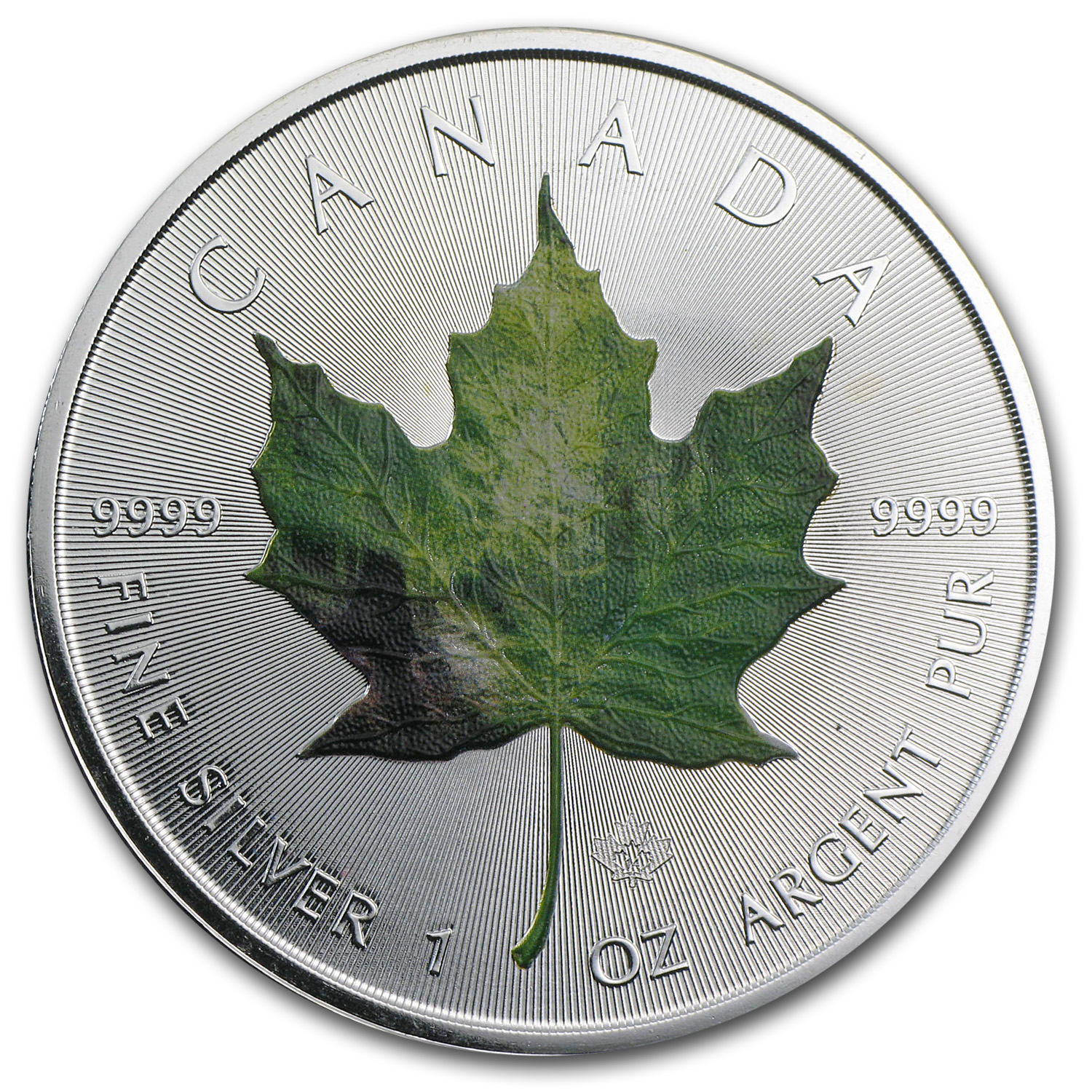 2014 1 oz Silver Canadian Maple Leaf - Spring Landscape