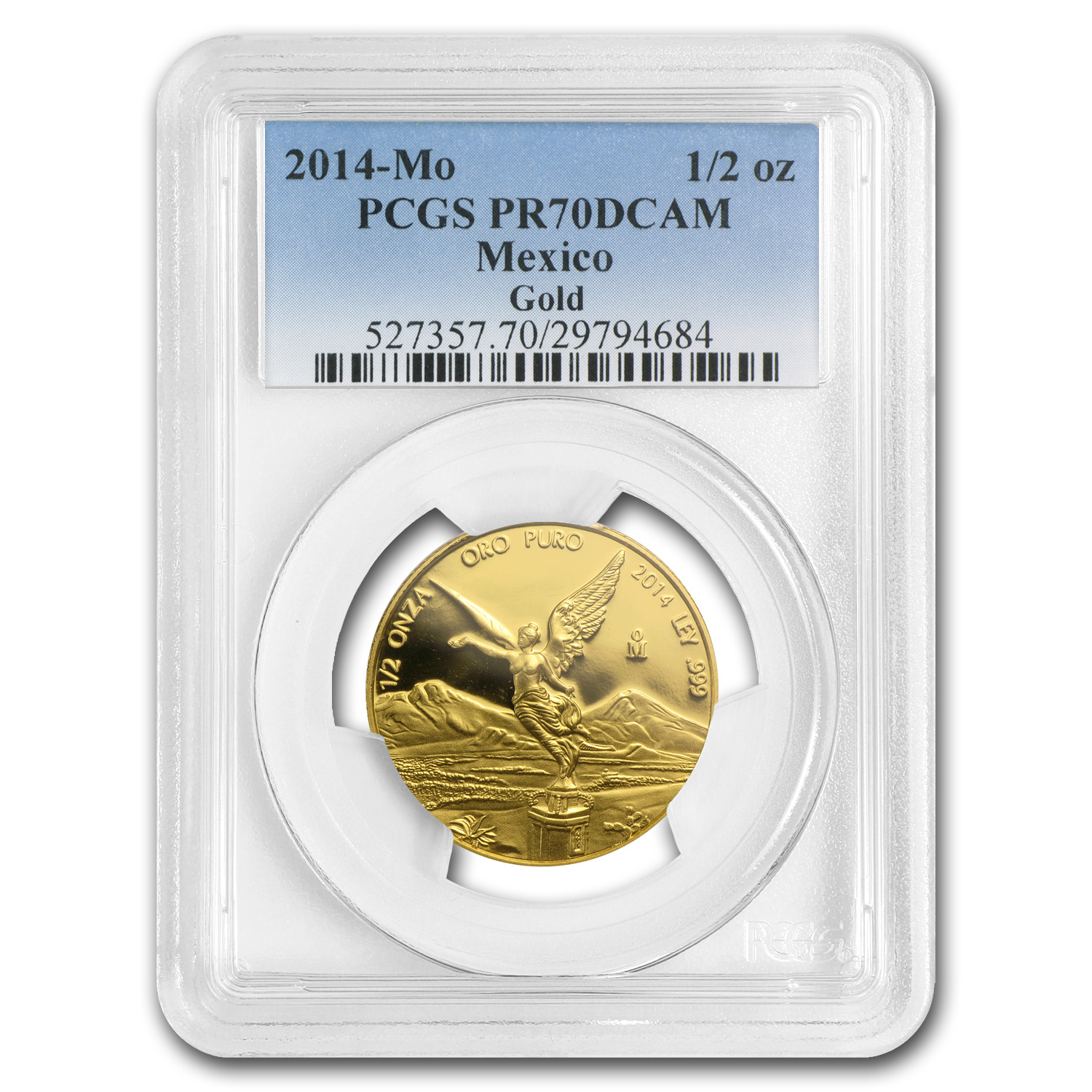 2014 Mexico 1/2 oz Gold Libertad PR-70 PCGS (Registry Coin)