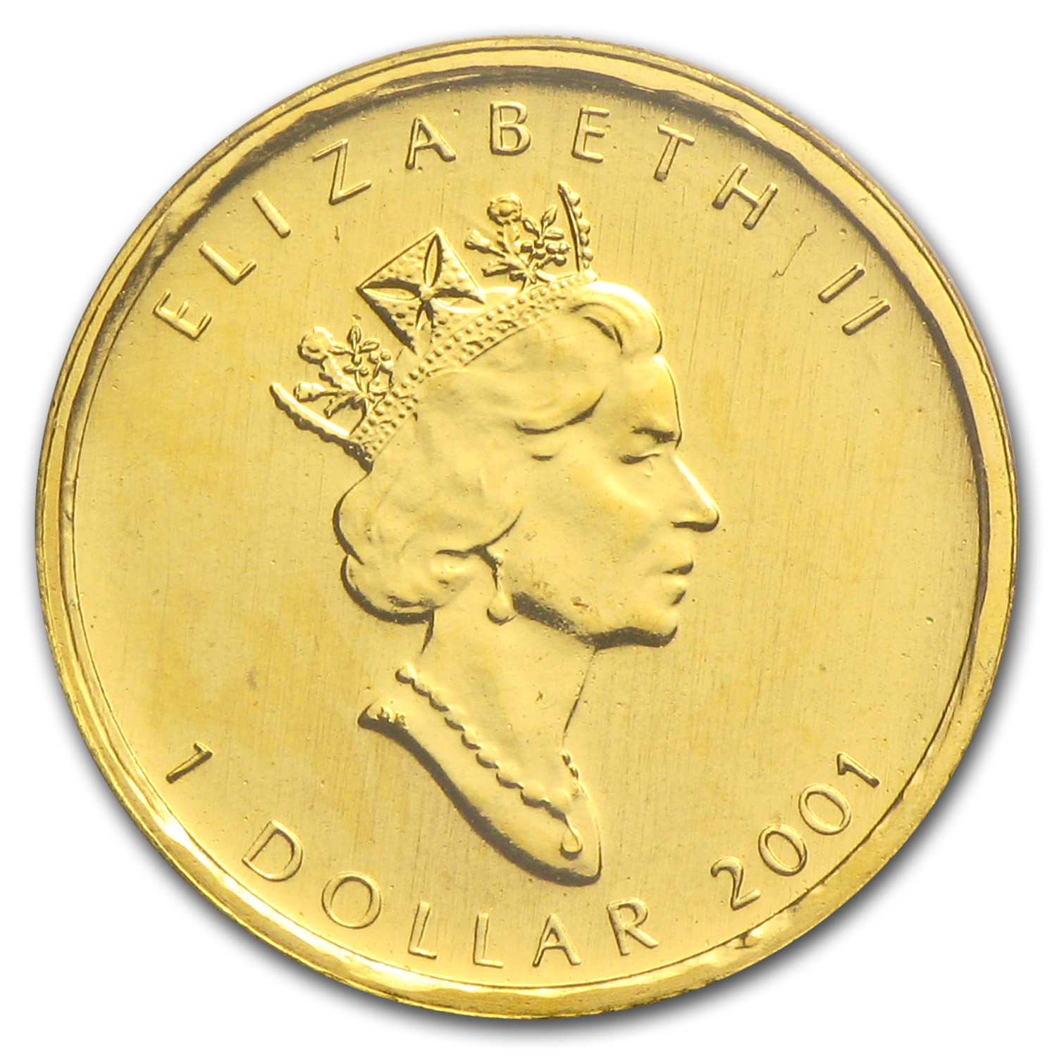 2001 1/20 oz Gold Canadian Maple Leaf