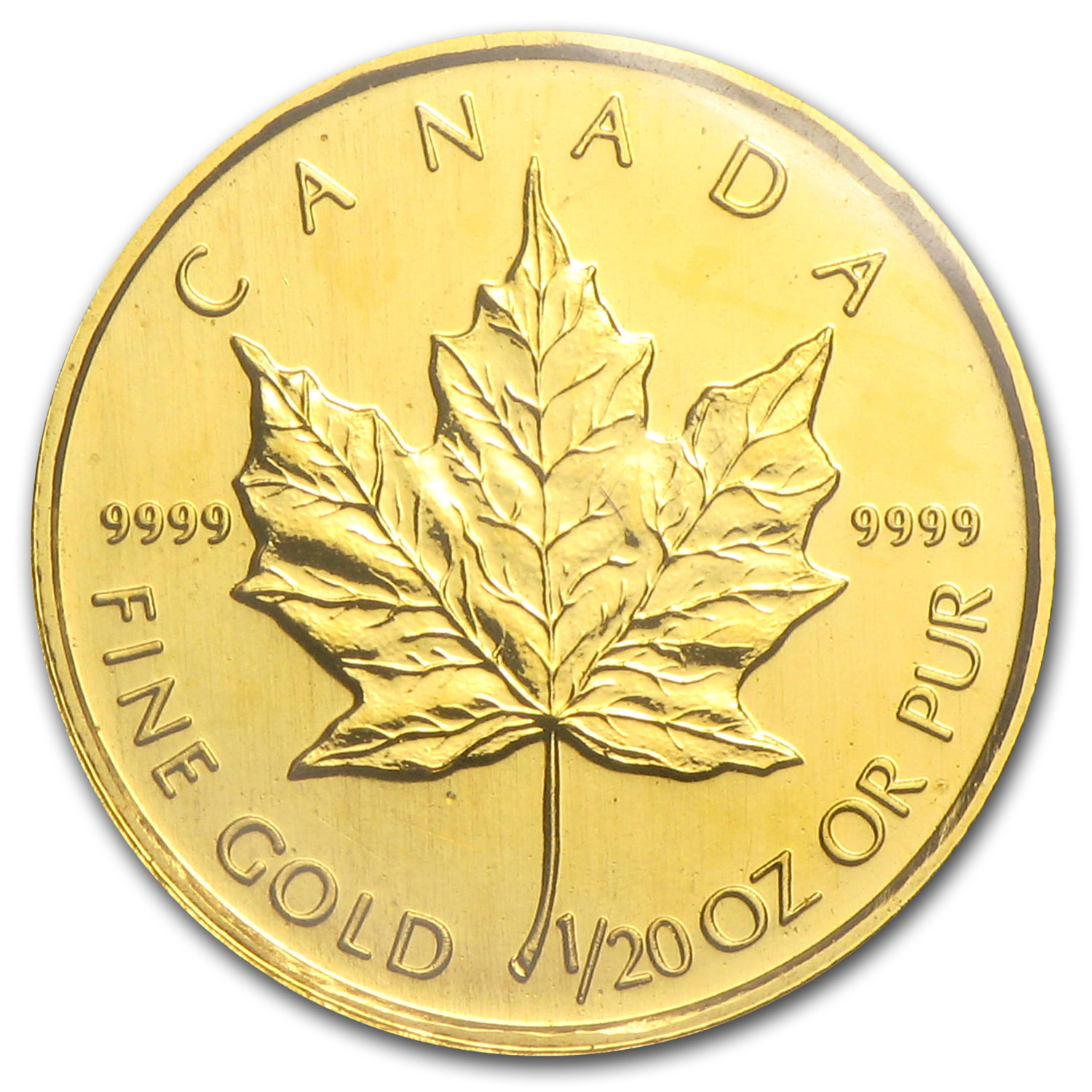 2001 Canada 1/20 oz Gold Maple Leaf BU