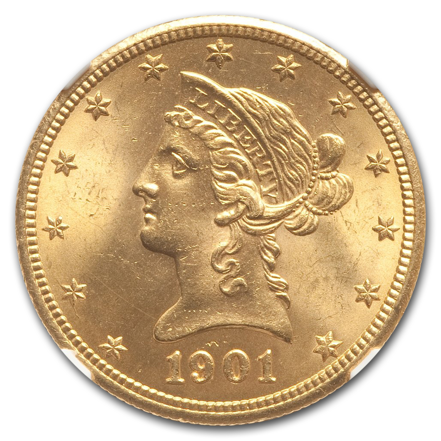 1901-S $10 Liberty Gold Eagle - MS-64+ NGC CAC