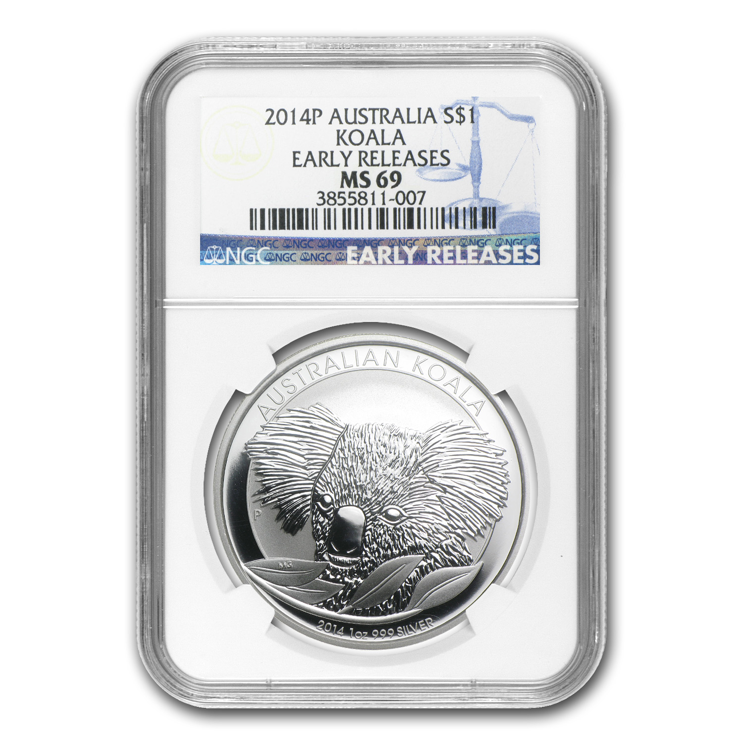 2014 Australia 1 oz Silver Koala MS-69 NGC (Early Releases)