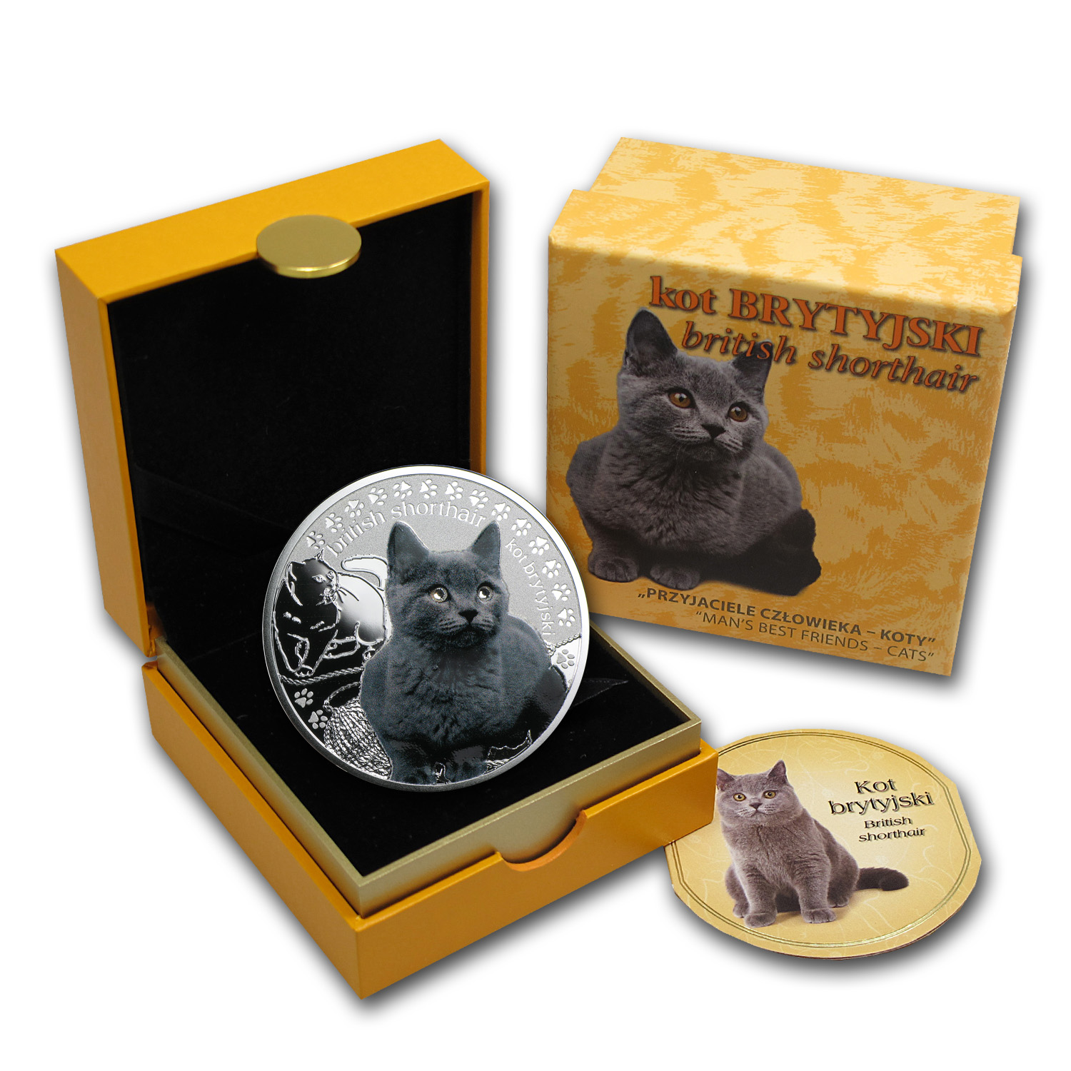2014 Niue Silver Man's Best Friends Cats British Shorthair