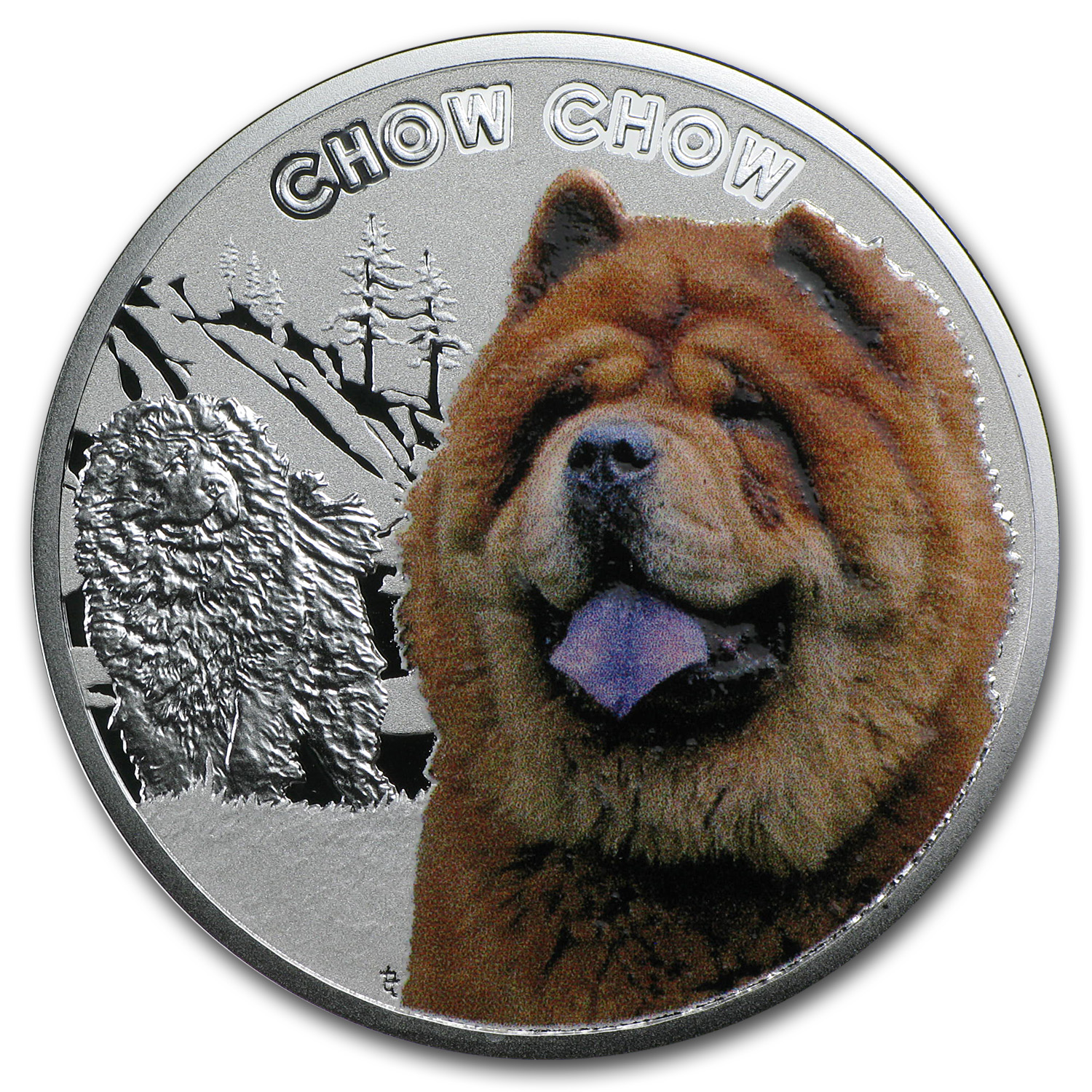 Niue 2014 Silver Proof Man's Best Friends -Dogs - Chow Chow
