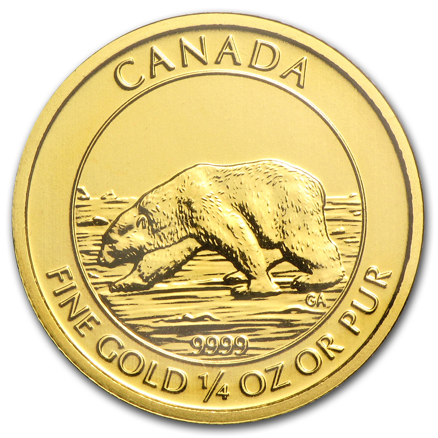2013 Canada 1/4 oz Gold $10 Polar Bear BU