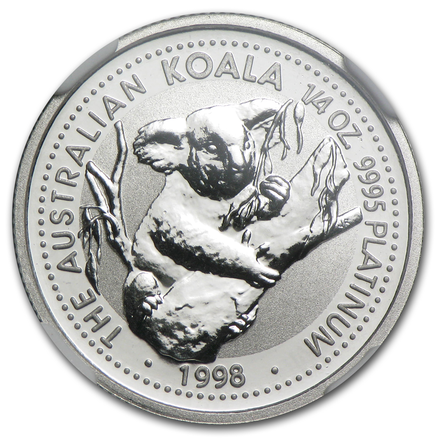 1998 Australia 1/4 oz Platinum Koala MS-70 NGC (Registry Set)
