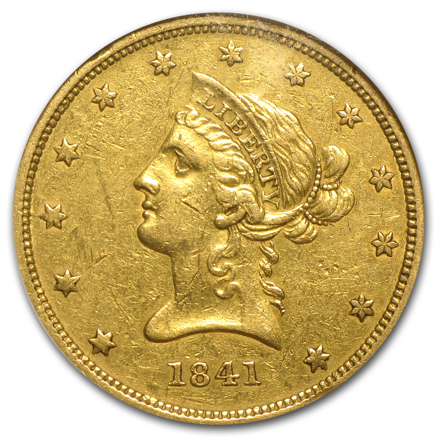 1841 $10 Liberty Gold Eagle AU-50 NGC