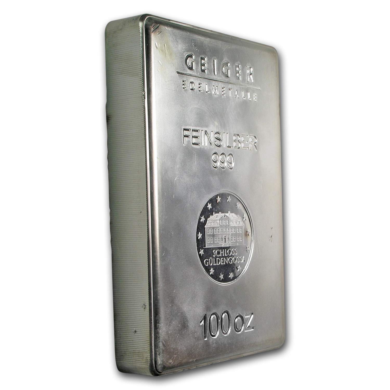 100 oz Silver Bar - Geiger (Security Line Series/Scruffy)