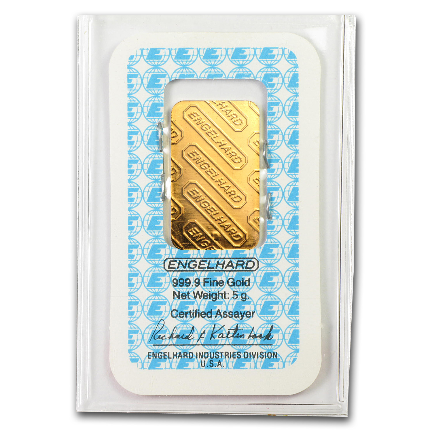 5 gram Gold Bars - Engelhard (In Assay Card)