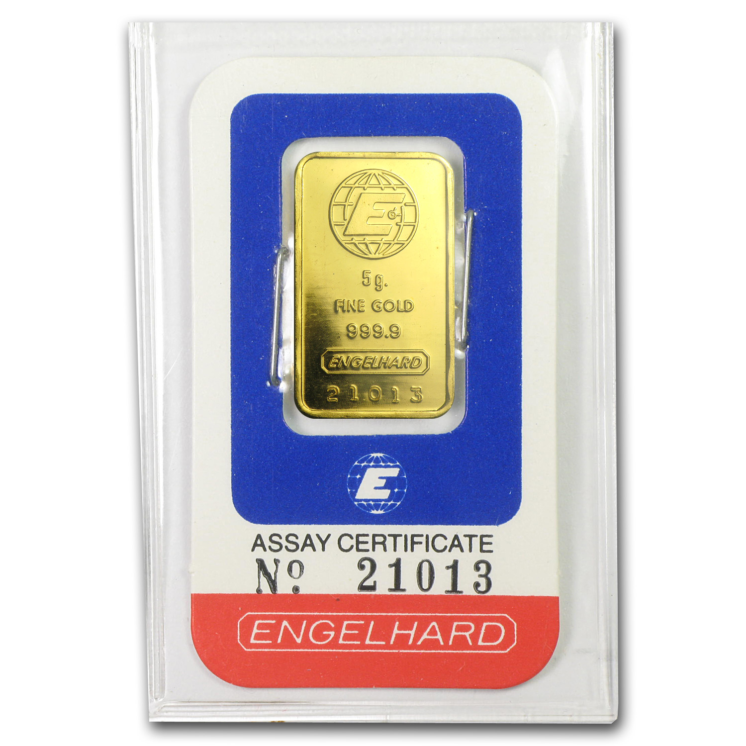 5 gram Gold Bar - Engelhard (In Assay)