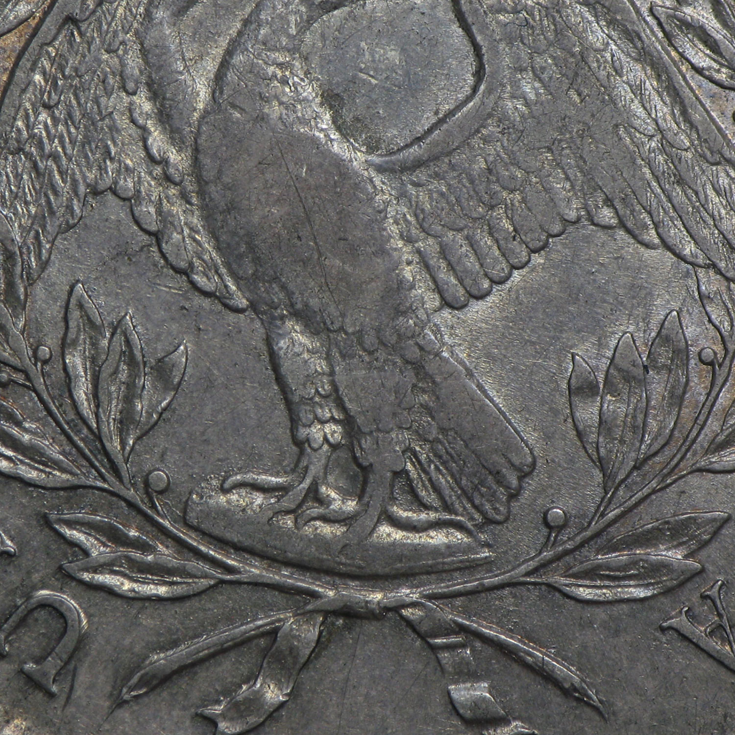 1795 Flowing Hair Dollar AU Details PCGS (Scratched, 3 Leaves)