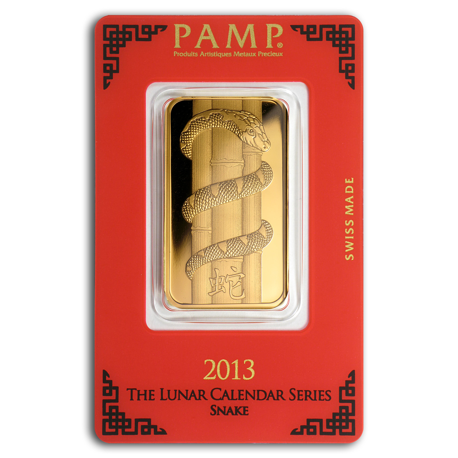 1 oz Gold Bar - Pamp Suisse Year of the Snake (In Assay)(Aug 7th)