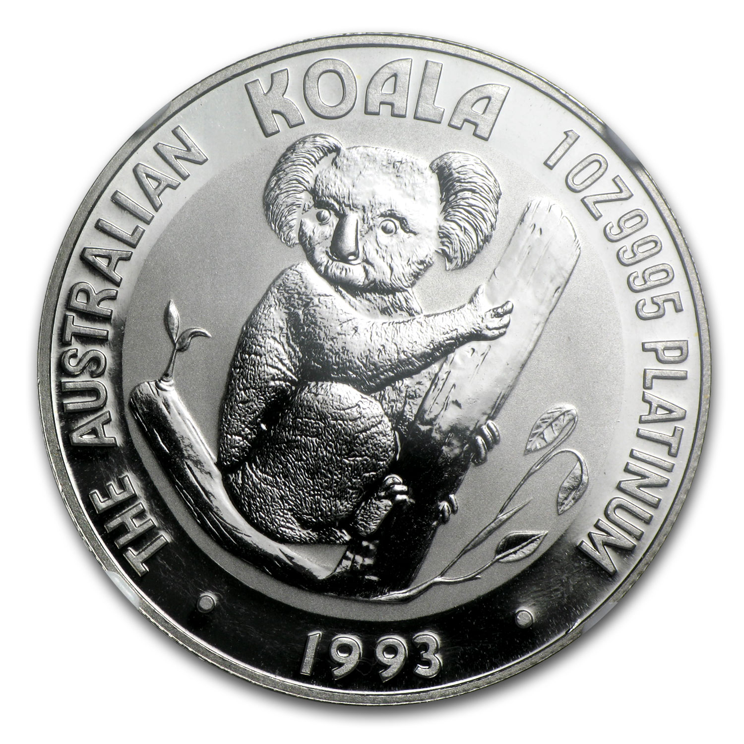 1993 1 oz Australian Platinum Koala MS-70 NGC (Registry Set)