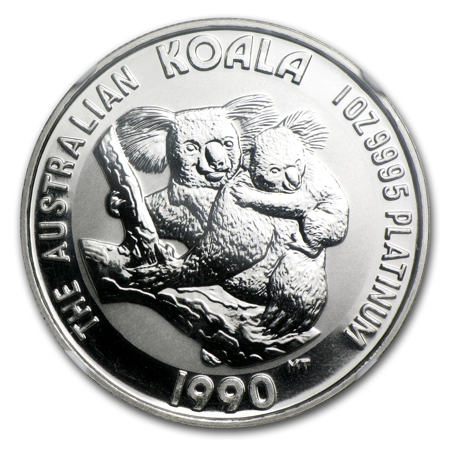 1990 1 oz Australian Platinum Koala MS-70 NGC (Registry Set)